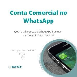 Conta comercial no Whatsapp